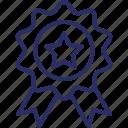 award medal, badge, medal, prize, reward ribbon icon