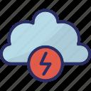 cloud, lightning, storm, thunderbolt, thunderstorm icon