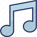 music, quaver, eighth note, music node, music note icon