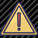 caution, exclamation, exclamation mark, hazard, warning icon