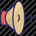 high volume, increase volume, loud volume, speaker, volume icon
