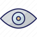 body organ, eye, human eye, human organ, view icon