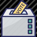ballot box, ballot stuffing, polling, polling box, voting box icon