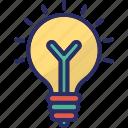 bulb, electric bulb, illumination, light, light bulb icon
