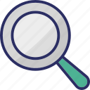 focus, magnifier, magnifying glass, search, zoom icon