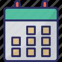 calendar, calendar date, date, time, yearbook icon
