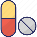 capsule, drugs, medical pills, medicine, pills icon