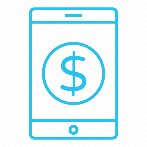 mobile, money, online, pay, payment, smartphone icon