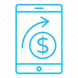 mobile, online, pay, payment, send, send payment, smartphone icon