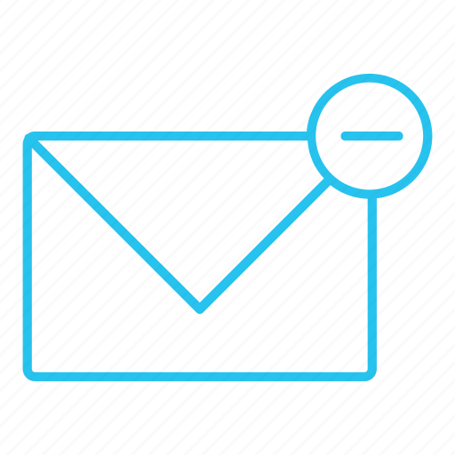 comment, email, envelope, letter, mail, message, remove icon