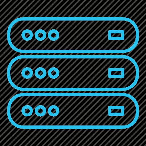 database, host, hosting, hybrid, server, vps icon