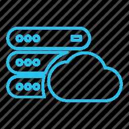 cloud, database, host, hosting, hybrid, server, vps icon