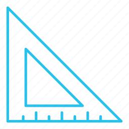 measure, measurements, ruler, size, triangle icon