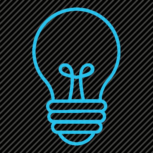 bulb, creative, idea, invent, invention, light, lightbulb icon