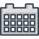 calendar, grid, month, year icon