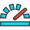 control, data, odometer, result, speed, speedometer icon