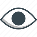eye, eyesight, sight, view, visible icon