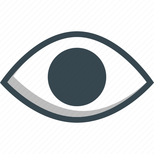 eye, eyesight, sight, view, visible icon