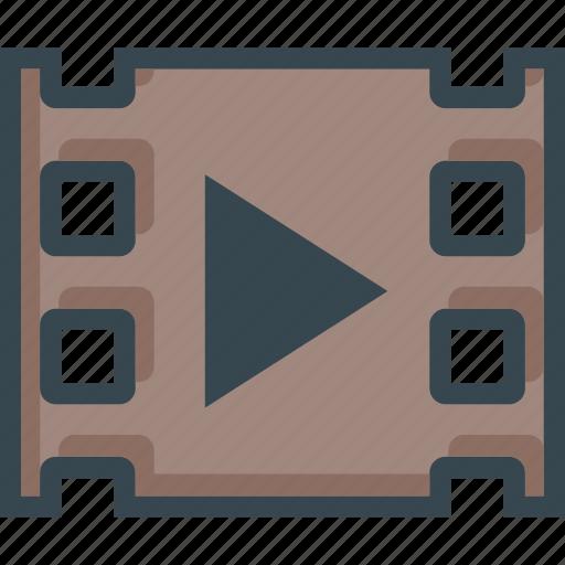 film, movie, player, video icon