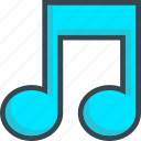 beam, music, notes, sound icon