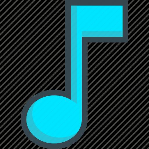 eight, music, note, quaver, sound icon