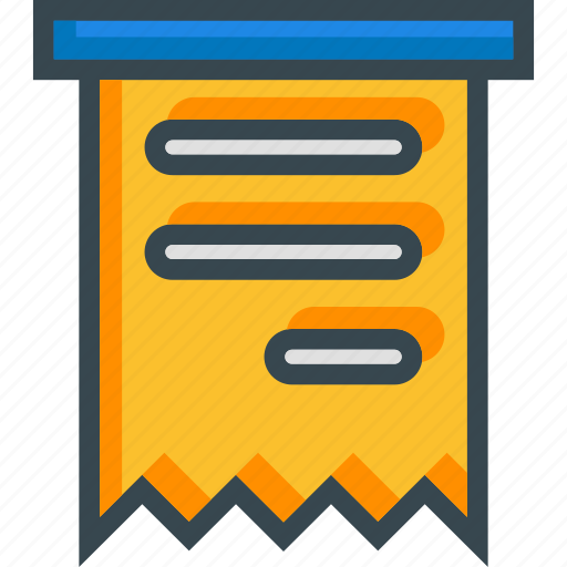 bill, document, ecommerce, invoice, online, ticket, voucher icon