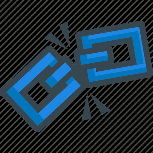 broken, chain, disconnect, hyperlink, link, url icon