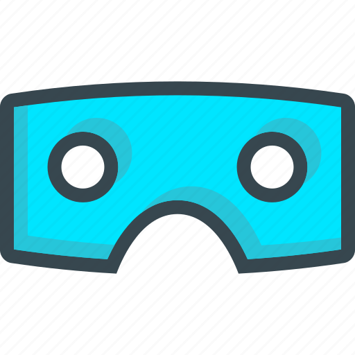 cardboard, glasses, reality, virtual, vr icon