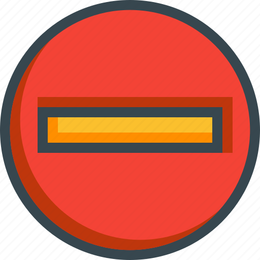 circle, denied, entry, forbidden, prohibited, sign icon