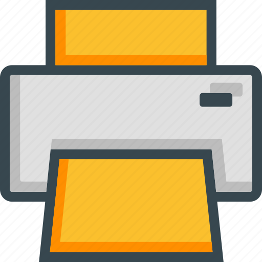 device, document, electronic, print, printer, printing icon