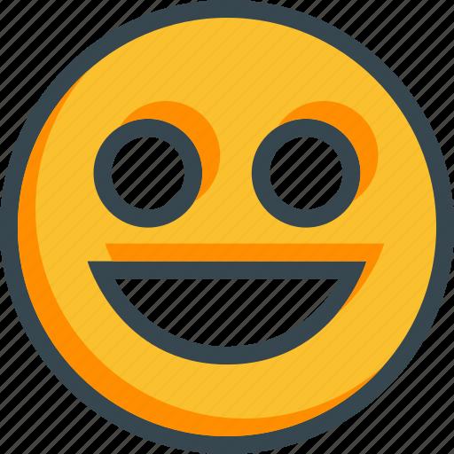 emoticon, face, happy, smile, sticker icon