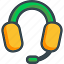 call, center, customer, headphones, headset, listening, support icon