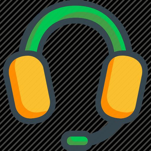 call, center, customer, headphones, headset, listening, support icon