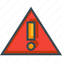 alert, attention, danger, error, warning icon