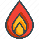 burn, fire, flame, heat, hot, temperature icon