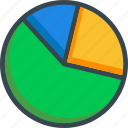 analitics, chart, diagram, graph, pie, statistics icon