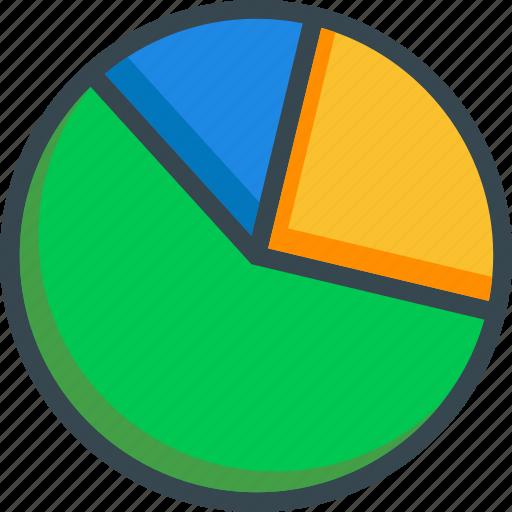 analitics, chart, diagram, graph, pie, statistics icon