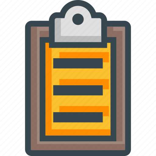 clipboard, content, list, paste, survey, task icon