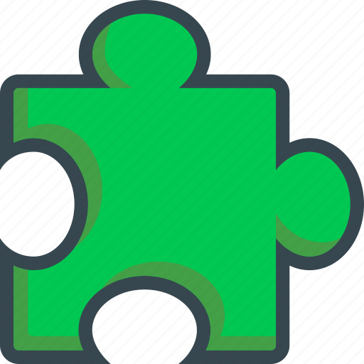 extension, game, jigsaw, piece, puzzle, side icon