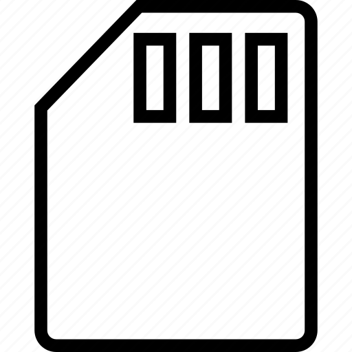 card, data, micro, sd, storage icon