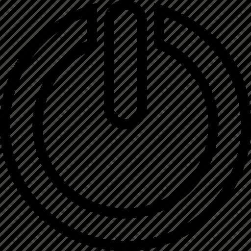 off, on, reset, restart icon