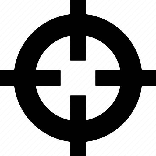 aim, arrow, bullseye, crossair, goal, target icon