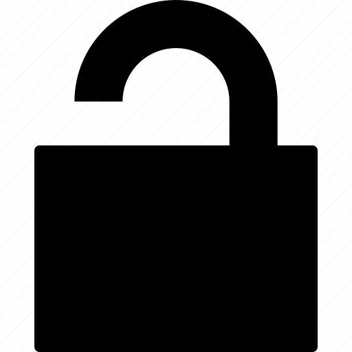 lock, open, padlock, unlocked, unsecure icon