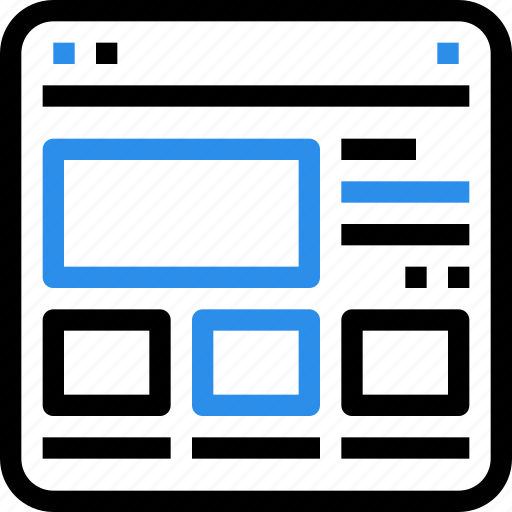browser, content, grid, interface, layout, ui, web icon