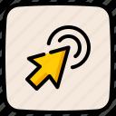 mouse, clicker, click, pointer, arrow
