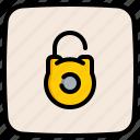 unsecure, padlock, unlock, security, lock
