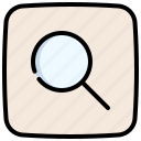 loupe, magnifier, zoom, magnifying, glass, search
