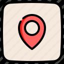 navigation, marker, pin, map, location