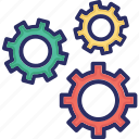 cogs, configure, gear, gears, options icon