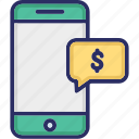 dollar, mobile, money, payment icon